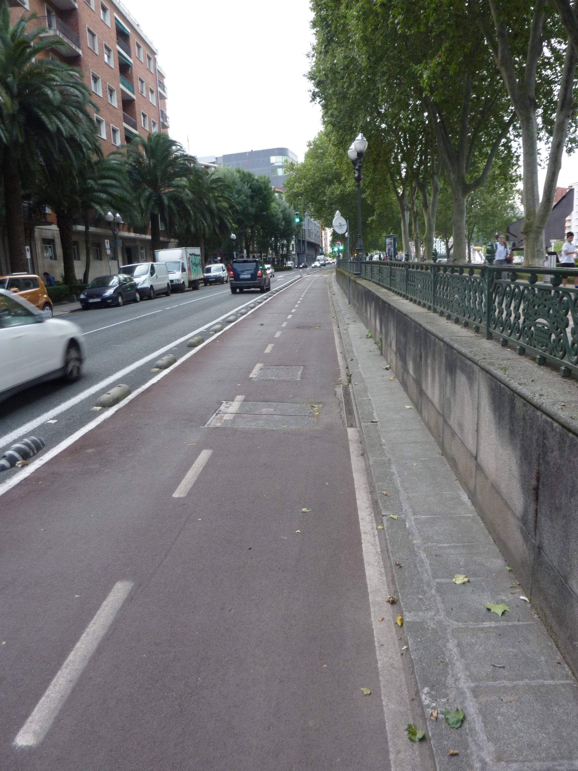 cycle road in Bilbao